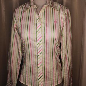 Lilly Pulitzer Vertical Stripe Button Down